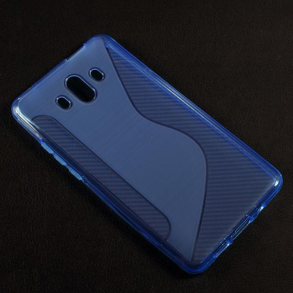 Huawei Mate 10 - S-Line Silikon Gummi Hülle Case blau