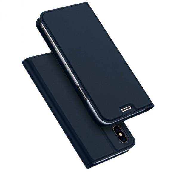 iPhone XS Max - Dux Ducis Leder Flip Folio Case roségold