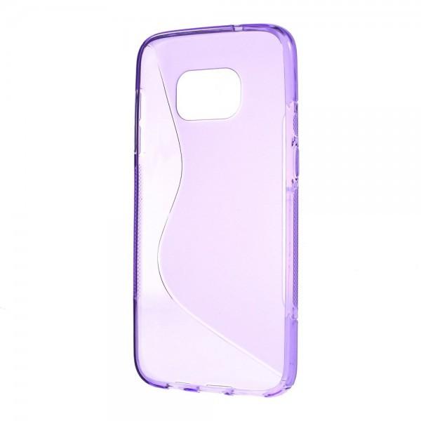 Galaxy S8+ PLUS- S-Line Silikon Gummi Hülle Case violett