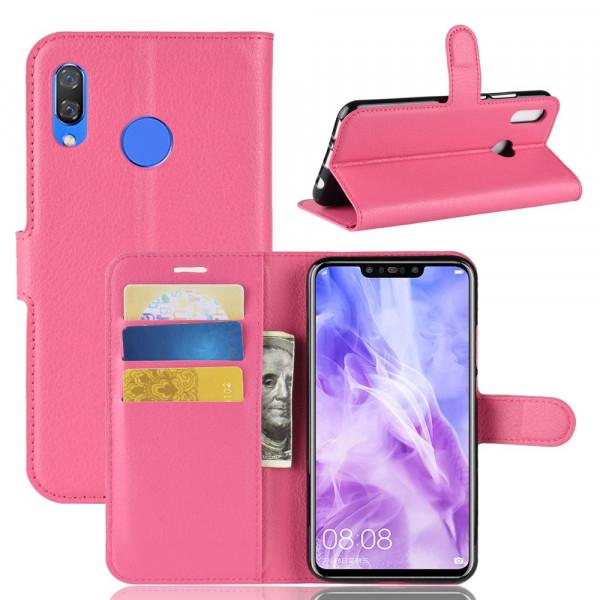 P Smart+ PLUS - Leder Taschen Etui Hülle Kartenfächer pink