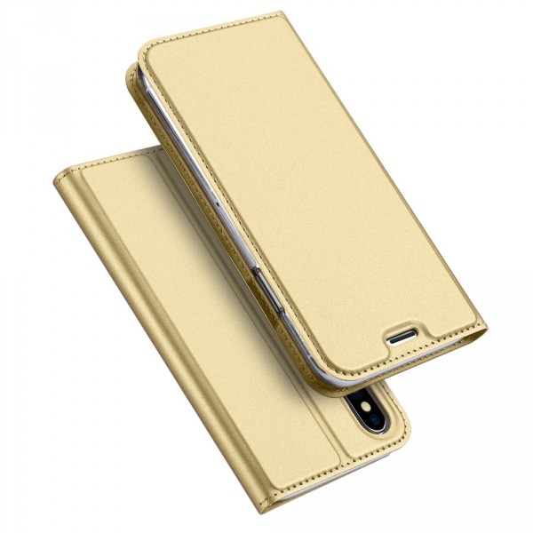 iPhone X - Dux Ducis Leder Flip Folio Case gold
