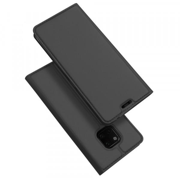 Huawei Mate 20 Pro- Dux Ducis Leder Flip  Folio Case anthrazit