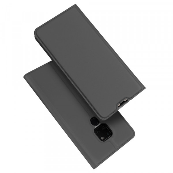 Huawei Mate 20 - Dux Ducis Leder Flip  Folio Case anthrazit