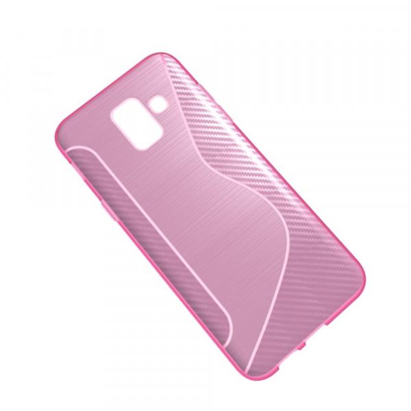 Galaxy A6 2018 - S-Line Silikon Gummi Hülle Case pink
