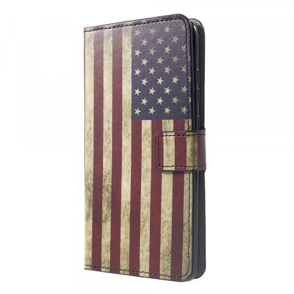Huawei Mate 20 - Leder Hüllen Etui US Flagge