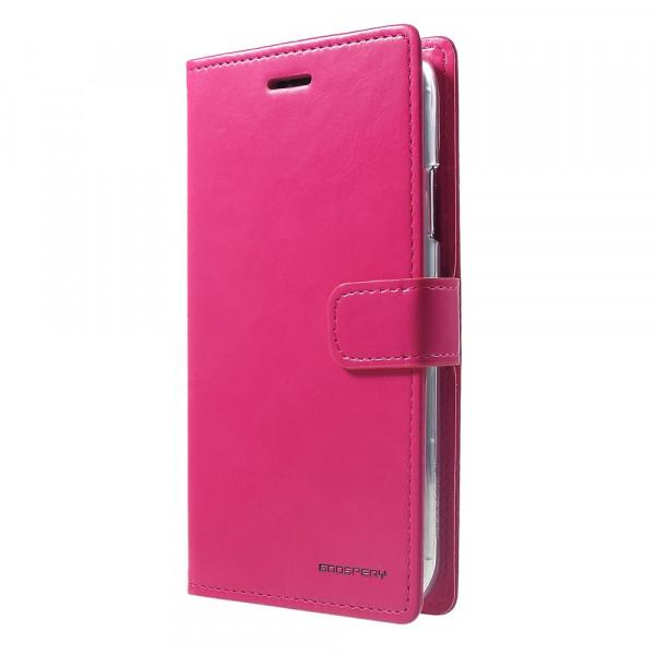 iPhone Xs Max - Blue Moon Leder Etui Hülle Karten pink