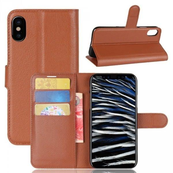 iPhone 8 - Leder Taschen Etui  Hülle Kartenfächer braun