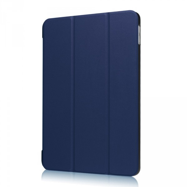iPad 9.7 2017 - Tri-fold Smart Leder Case dunkelblau