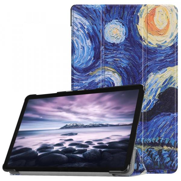 Galaxy Tab A 10.5 2018 - Tri-fold Smart Leder Case Sternenhimmel