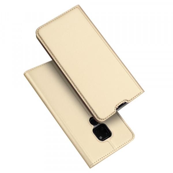 Huawei Mate 20 - Dux Ducis Leder Flip  Folio Case gold