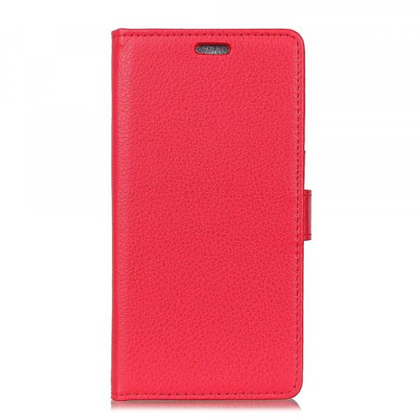 Nokia 2.1 2018 - Leder Taschen Etui  Hülle Kartenfächer rot