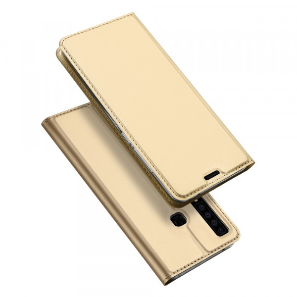 Galaxy A9 2018 - Dux Ducis Leder Flip Folio Case gold