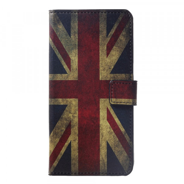 P Smart+ PLUS - Leder Hüllen Etui Vintage UK Flagge