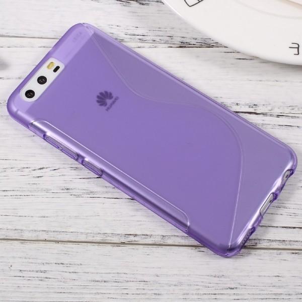 Huawei P10 - S-Line Silikon Gummi Hülle Case violett