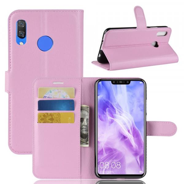 P Smart+ PLUS - Leder Taschen Etui Hülle Kartenfächer rosa