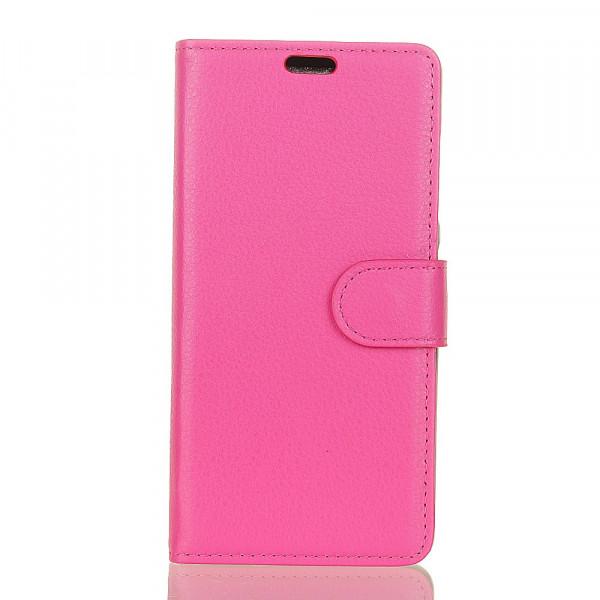 Huawei Mate 20 Pro - Leder Taschen Etui Hülle Kartenfächer pink