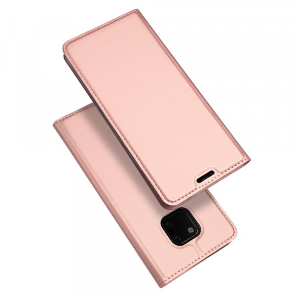 Huawei Mate 20 Pro- Dux Ducis Leder Flip  Folio Case roségold