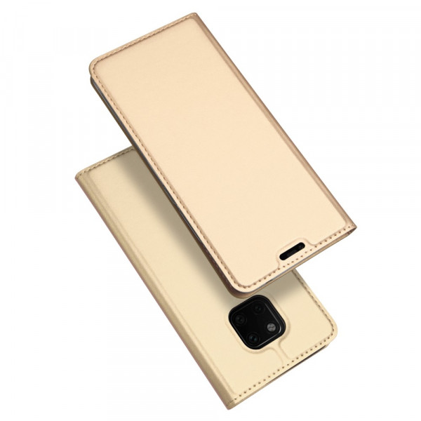 Huawei Mate 20 Pro- Dux Ducis Leder Flip  Folio Case gold