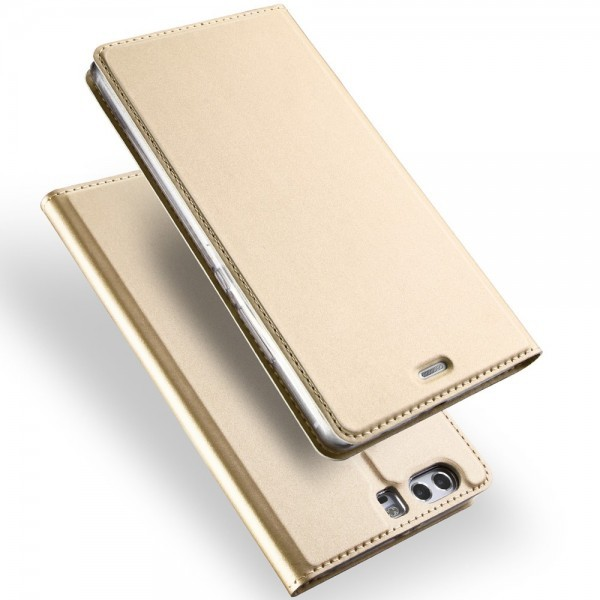 Huawei P10 Plus - Dux Ducis Leder Flip Folio Case gold