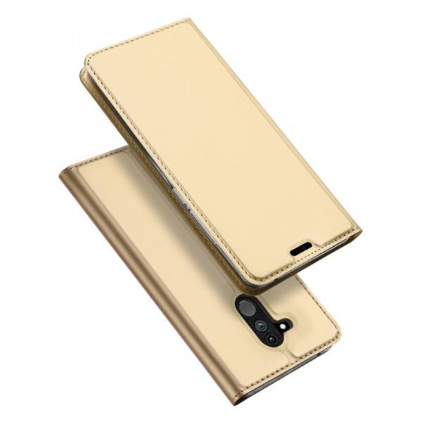 Huawei Mate 20 Lite - Dux Ducis Leder Flip  Folio Case gold