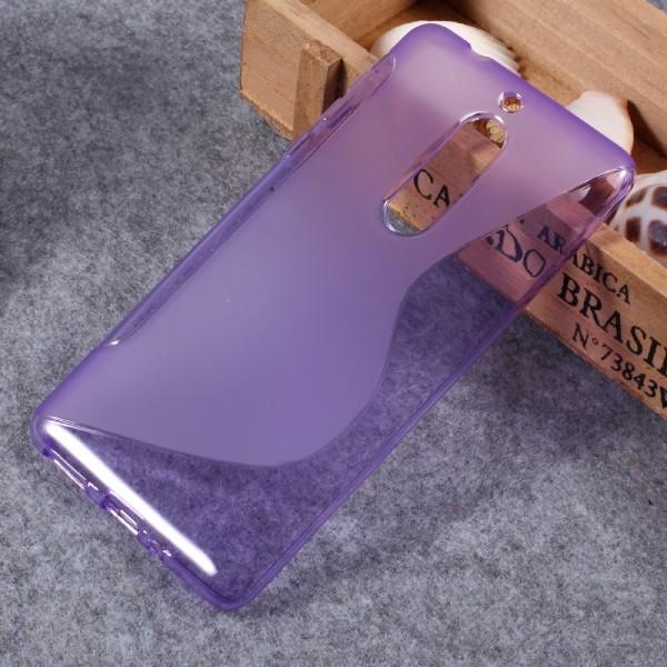 Nokia 5 - S-Line Silikon Gummi Hülle Case violett