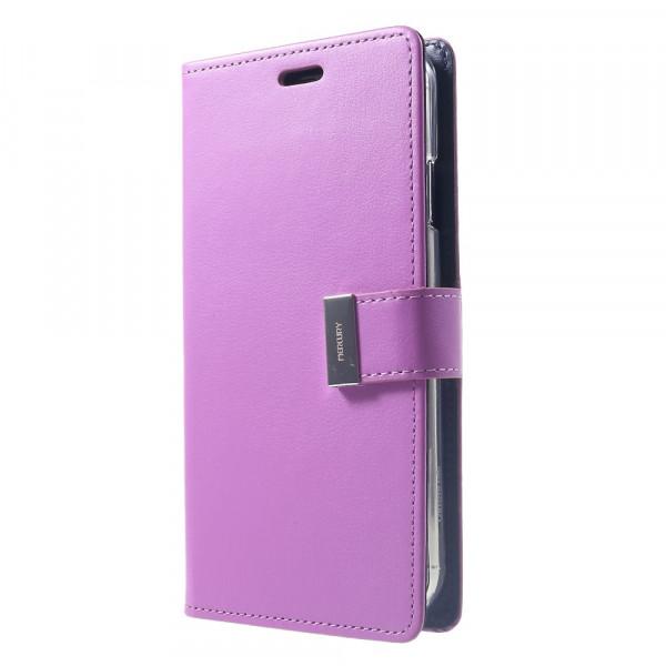 iPhone Xs Max - Mercury Rich Diary Leder Etui Brieftasche violett
