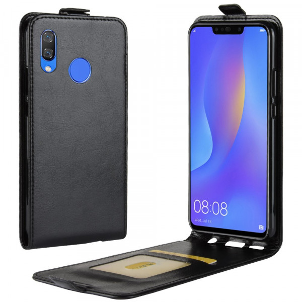 P Smart+ PLUS - Leder Flip Case mit Fotofach vertikal schwarz