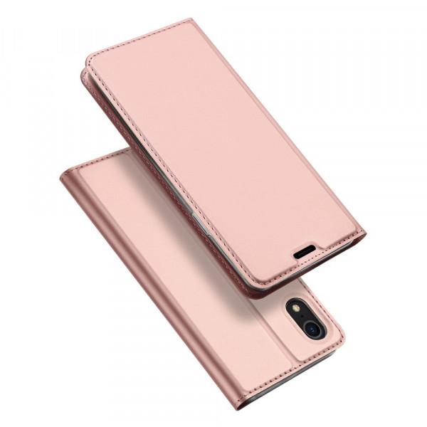 iPhone XR - Dux Ducis Leder Flip Folio Case roségold