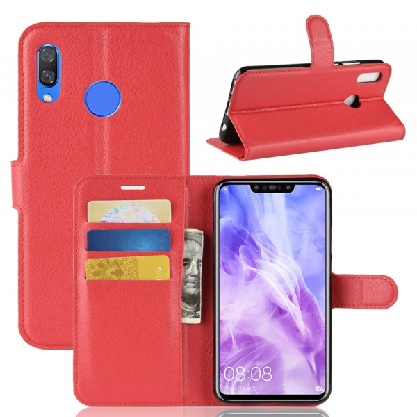 P Smart+ PLUS - Leder Taschen Etui Hülle Kartenfächer rot