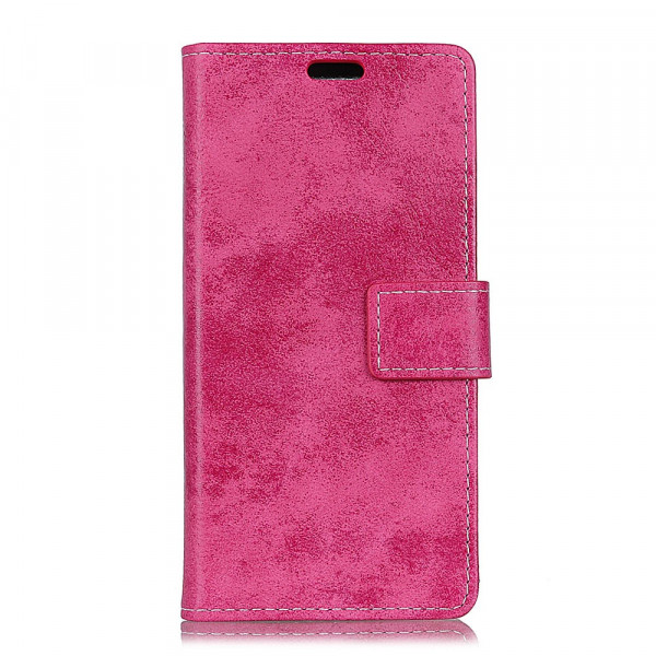 Galaxy S10 Lite - Vintage Leder Hülle in Wildleder Optik pink
