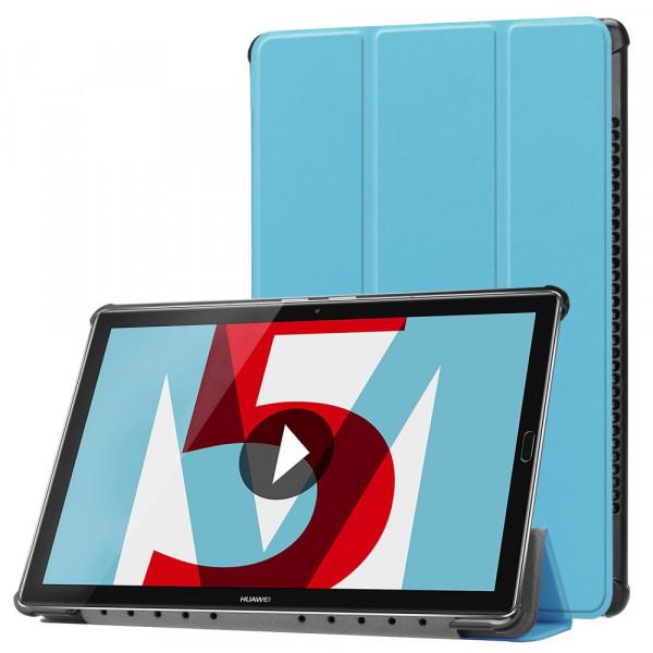 MediaPad M5 10.8 - Tri-fold Smart Leder Tasche Hülle hellblau
