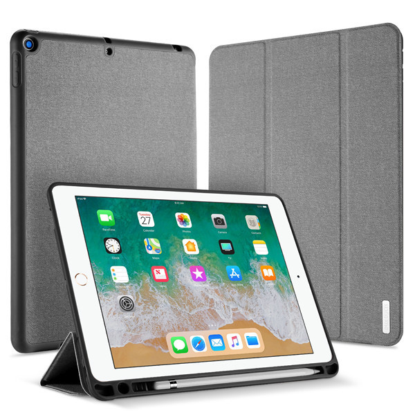 iPad 9.7 2017 - Dux Ducis Domo Tri-fold Smart Case grau